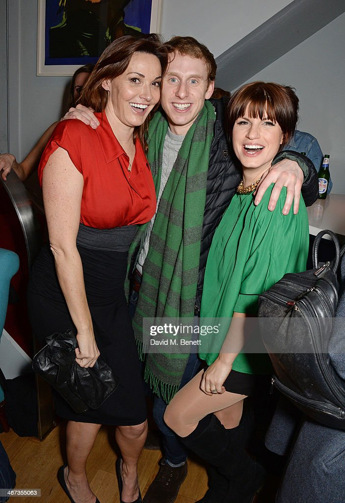 Sarah Parish Robert Emms and Jemima Rooper attend an after party for the Murray Parish Trust inaugural art auction at The Groucho Club on February 6...