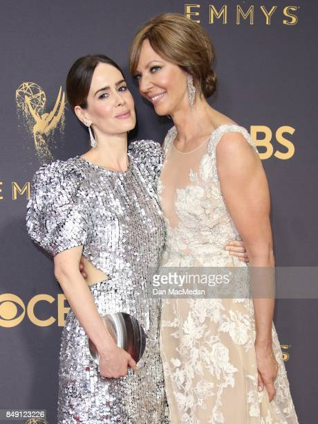 Sarah Paulson and Allison Janney arrive at the 69th Annual Primetime Emmy Awards at Microsoft Theater on September 17 2017 in Los Angeles California