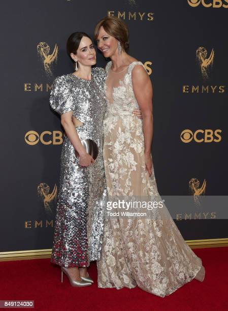 Sarah Paulson and Allison Janney attend the 69th Annual Primetime Emmy Awards at Microsoft Theater on September 17 2017 in Los Angeles California