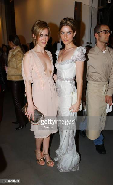 Sarah Paulson and Amanda Peet during Miu Miu Party at Miu Miu Store in Los Angeles California United States