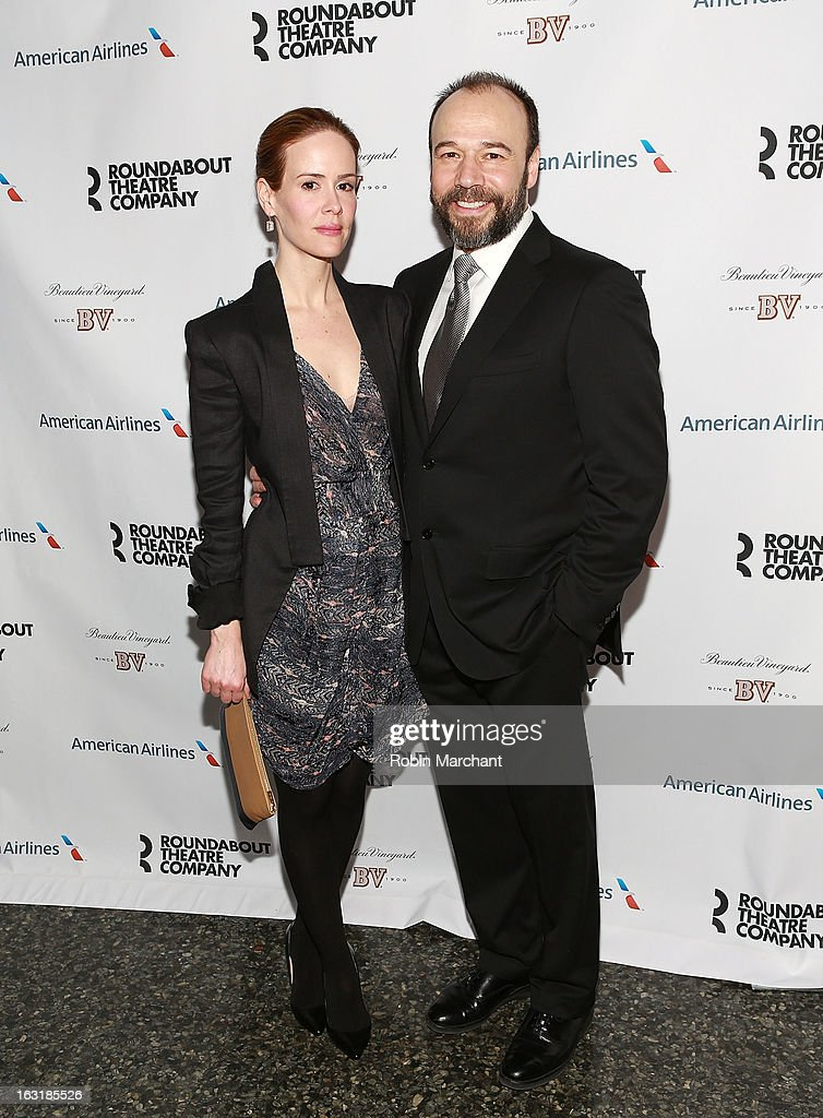 Sarah Paulson (L) and Danny Burstein attend 'Talley's Folly' Opening Night at Laura Pels Theatre at the Harold & Miriam Steinberg Center for on March 5, 2013 in New York City.