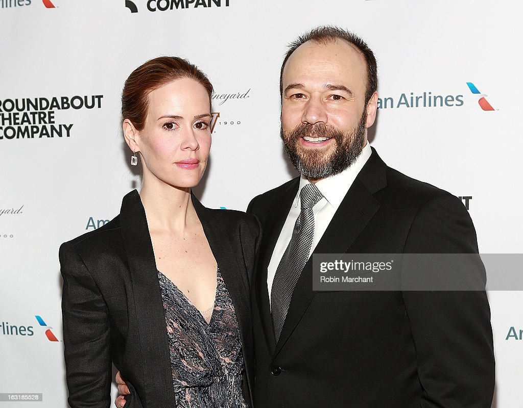 <a gi-track='captionPersonalityLinkClicked' href=/galleries/search?phrase=Sarah+Paulson&family=editorial&specificpeople=220657 ng-click='$event.stopPropagation()'>Sarah Paulson</a> (L) and Danny Burstein attend 'Talley's Folly' Opening Night at Laura Pels Theatre at the Harold & Miriam Steinberg Center for on March 5, 2013 in New York City.