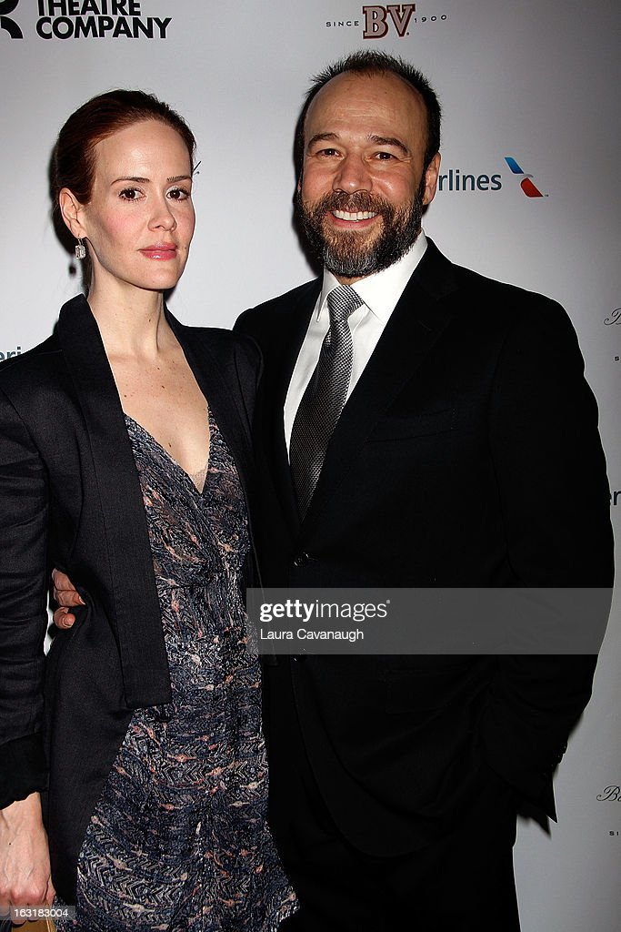 <a gi-track='captionPersonalityLinkClicked' href=/galleries/search?phrase=Sarah+Paulson&family=editorial&specificpeople=220657 ng-click='$event.stopPropagation()'>Sarah Paulson</a> and Danny Burstein attends 'Talley's Folly' Opening Night at Laura Pels Theatre at the Harold & Miriam Steinberg Center for on March 5, 2013 in New York City.