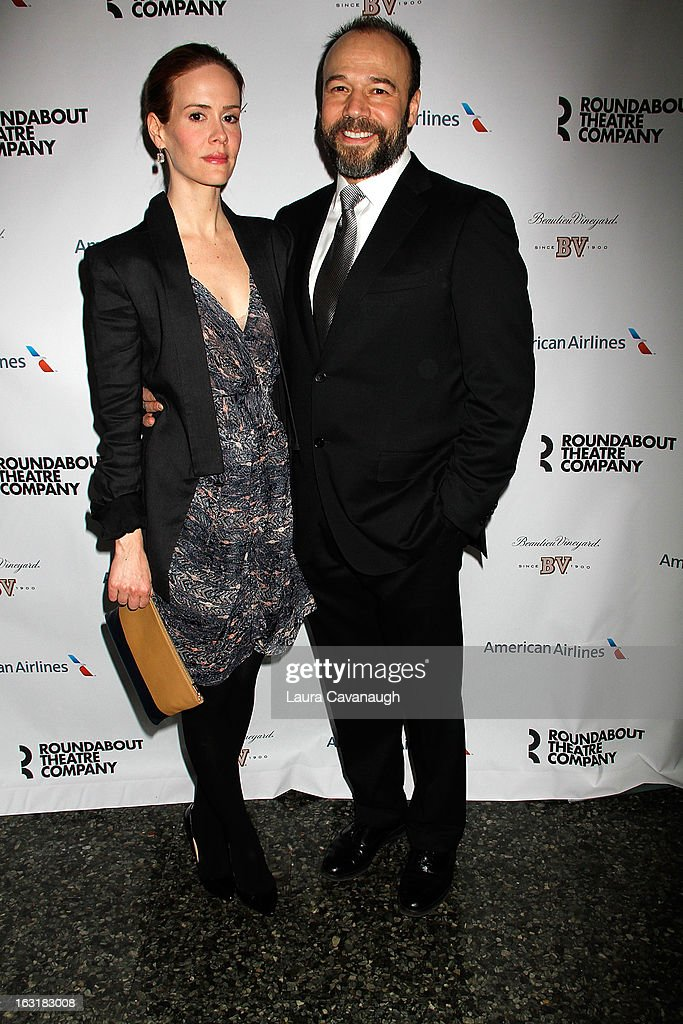 Sarah Paulson and Danny Burstein attends 'Talley's Folly' Opening Night at Laura Pels Theatre at the Harold & Miriam Steinberg Center for on March 5, 2013 in New York City.