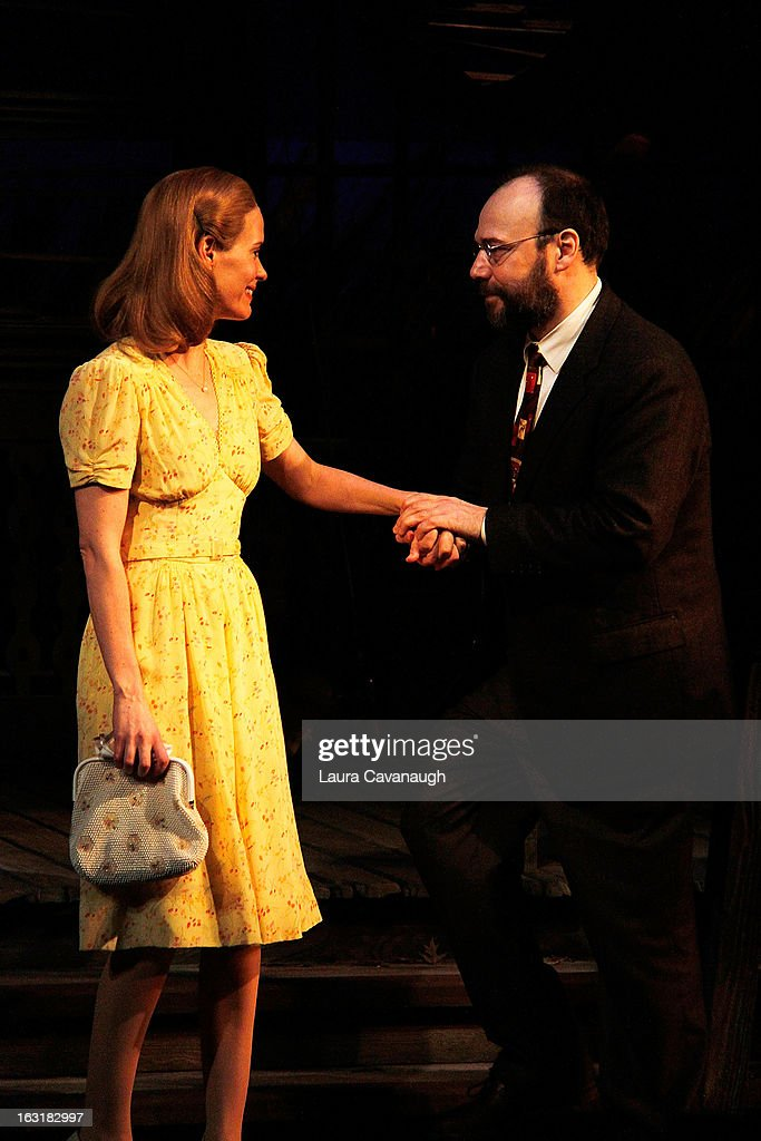 <a gi-track='captionPersonalityLinkClicked' href=/galleries/search?phrase=Sarah+Paulson&family=editorial&specificpeople=220657 ng-click='$event.stopPropagation()'>Sarah Paulson</a> and Danny Burstein during Curtain Call for 'Talley's Folly' Opening Night at Laura Pels Theatre at the Harold & Miriam Steinberg Center for on March 5, 2013 in New York City.