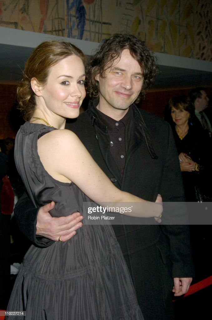 Sarah Paulson and David Leveaux director during Opening Night Party For Broadway Show 'The Glass Managerie' at The Bryant Park Grill in New York New...