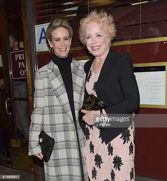 Sarah Paulson and Holland Taylor attend the 'The Front Page' Broadway Opening Night after party at Sardi's on October 20 2016 in New York City