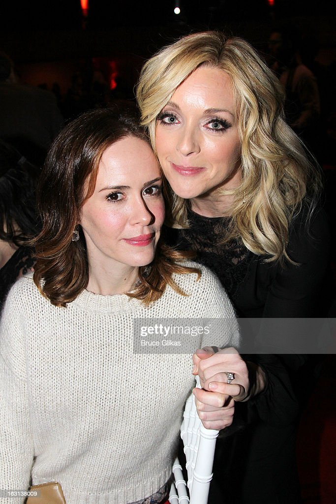 <a gi-track='captionPersonalityLinkClicked' href=/galleries/search?phrase=Sarah+Paulson&family=editorial&specificpeople=220657 ng-click='$event.stopPropagation()'>Sarah Paulson</a> and <a gi-track='captionPersonalityLinkClicked' href=/galleries/search?phrase=Jane+Krakowski&family=editorial&specificpeople=203166 ng-click='$event.stopPropagation()'>Jane Krakowski</a> attend MCC Theater Company's Miscast 2013 at Hammerstein Ballroom on March 4, 2013 in New York City.