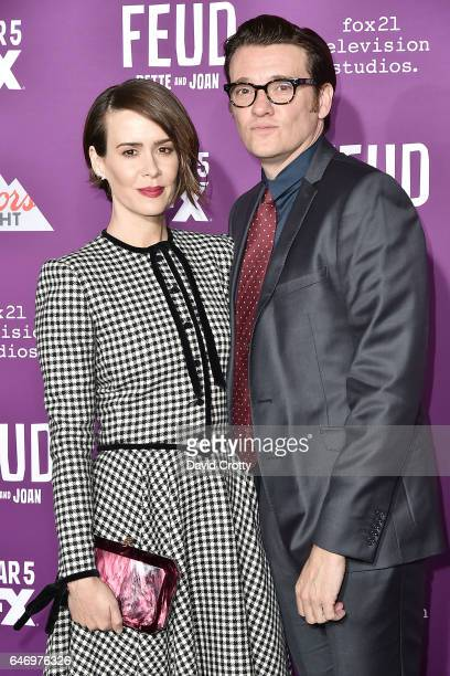 Sarah Paulson and Jason Butler Harner attend the Premiere of FX Network's 'Feud Bette And Joan' Arrivals at Grauman's Chinese Theatre on March 1 2017...