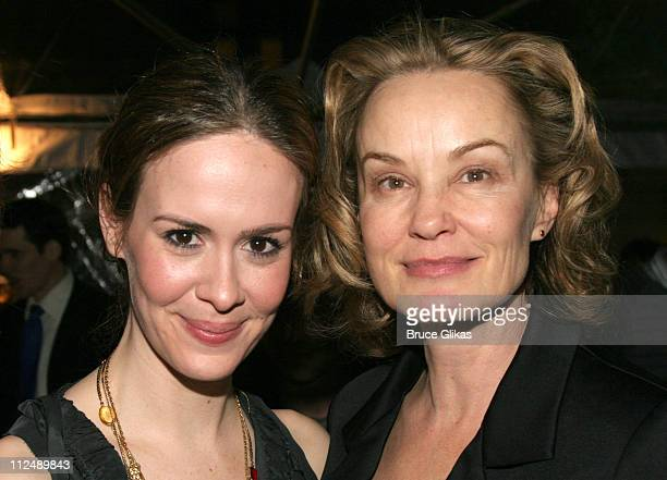 Sarah Paulson and Jessica Lange during 'The Glass Menagerie' Opening Night on Broadway at Ethel Barrymore Theatre Bryant Park Grill in New York City...
