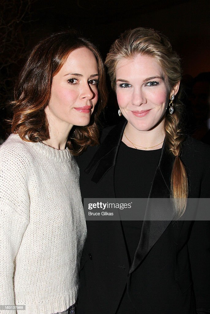 <a gi-track='captionPersonalityLinkClicked' href=/galleries/search?phrase=Sarah+Paulson&family=editorial&specificpeople=220657 ng-click='$event.stopPropagation()'>Sarah Paulson</a> and <a gi-track='captionPersonalityLinkClicked' href=/galleries/search?phrase=Lily+Rabe&family=editorial&specificpeople=233506 ng-click='$event.stopPropagation()'>Lily Rabe</a> attend MCC Theater Company's Miscast 2013 at Hammerstein Ballroom on March 4, 2013 in New York City.