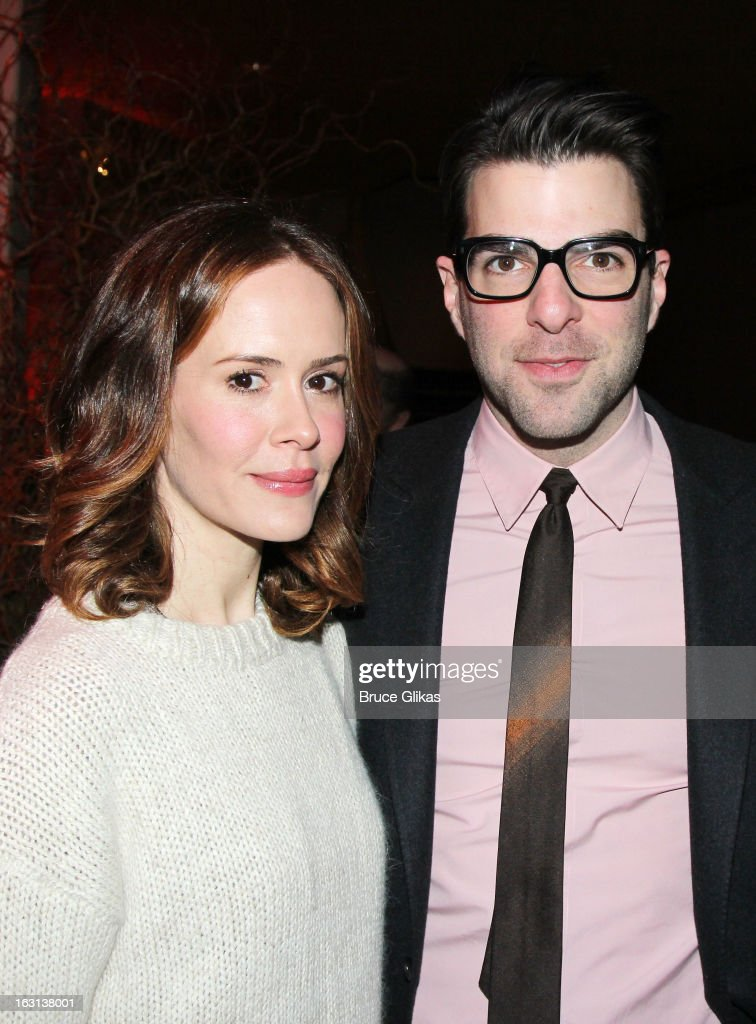 <a gi-track='captionPersonalityLinkClicked' href=/galleries/search?phrase=Sarah+Paulson&family=editorial&specificpeople=220657 ng-click='$event.stopPropagation()'>Sarah Paulson</a> and <a gi-track='captionPersonalityLinkClicked' href=/galleries/search?phrase=Zachary+Quinto&family=editorial&specificpeople=715956 ng-click='$event.stopPropagation()'>Zachary Quinto</a> attend MCC Theater Company's Miscast 2013 at Hammerstein Ballroom on March 4, 2013 in New York City.