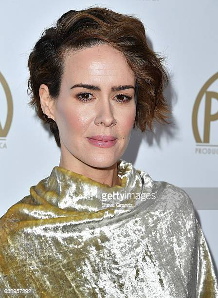 Sarah Paulson arrives at the 28th Annual Producers Guild Awards at The Beverly Hilton Hotel on January 28 2017 in Beverly Hills California