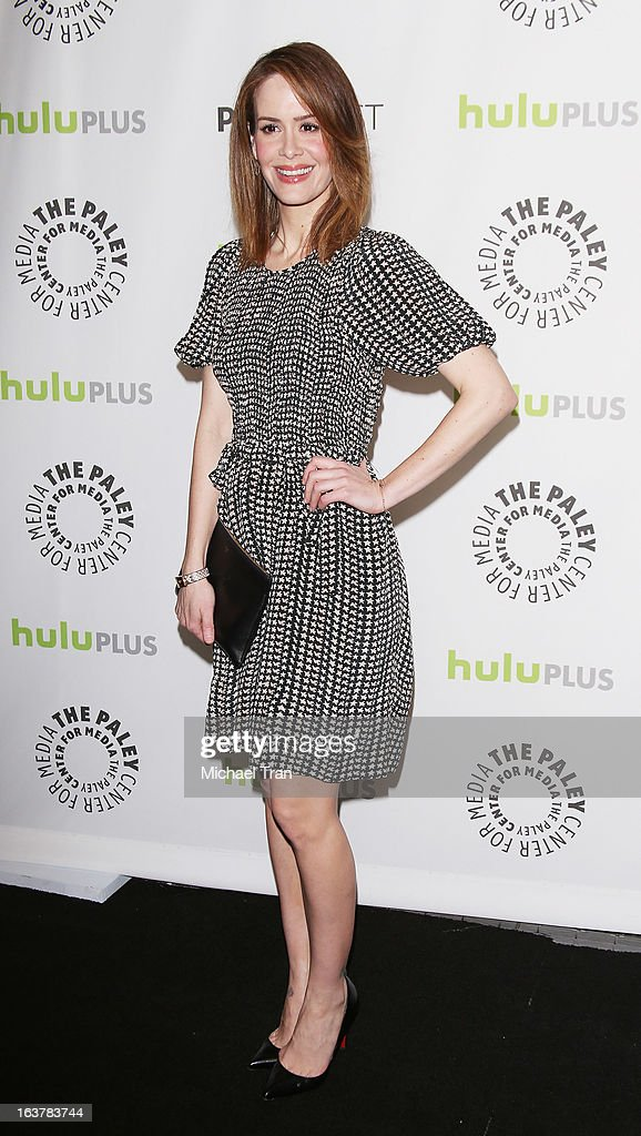Sarah Paulson arrives at the 30th Annual PaleyFest: The William S. Paley Television Festival - 'American Horror Story: Asylum' - closing night presentation held at Saban Theatre on March 15, 2013 in Beverly Hills, California.
