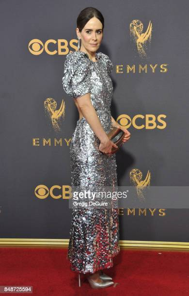 Sarah Paulson arrives at the 69th Annual Primetime Emmy Awards at Microsoft Theater on September 17 2017 in Los Angeles California
