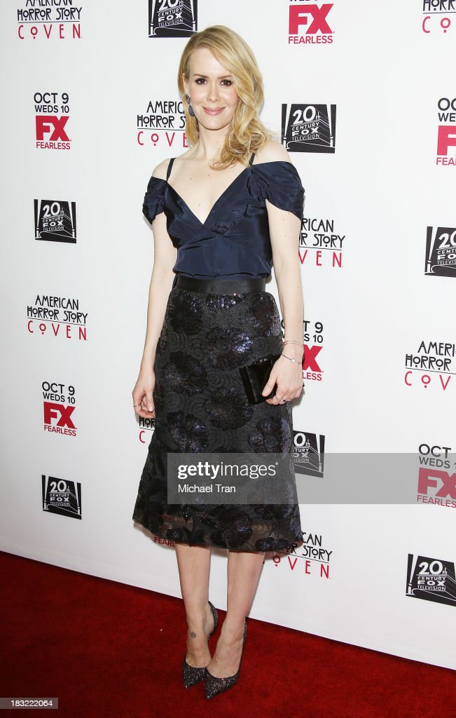 Sarah Paulson arrives at the premiere of FX's 'American Horror Story: Coven' held at Pacific Design Center on October 5, 2013 in West Hollywood, California.