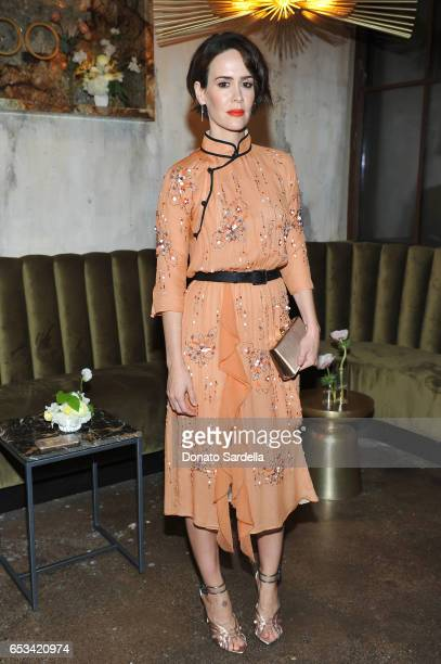 Sarah Paulson at the Power Stylists Dinner hosted by The Hollywood Reporter and Jimmy Choo on March 14 2017 in West Hollywood California