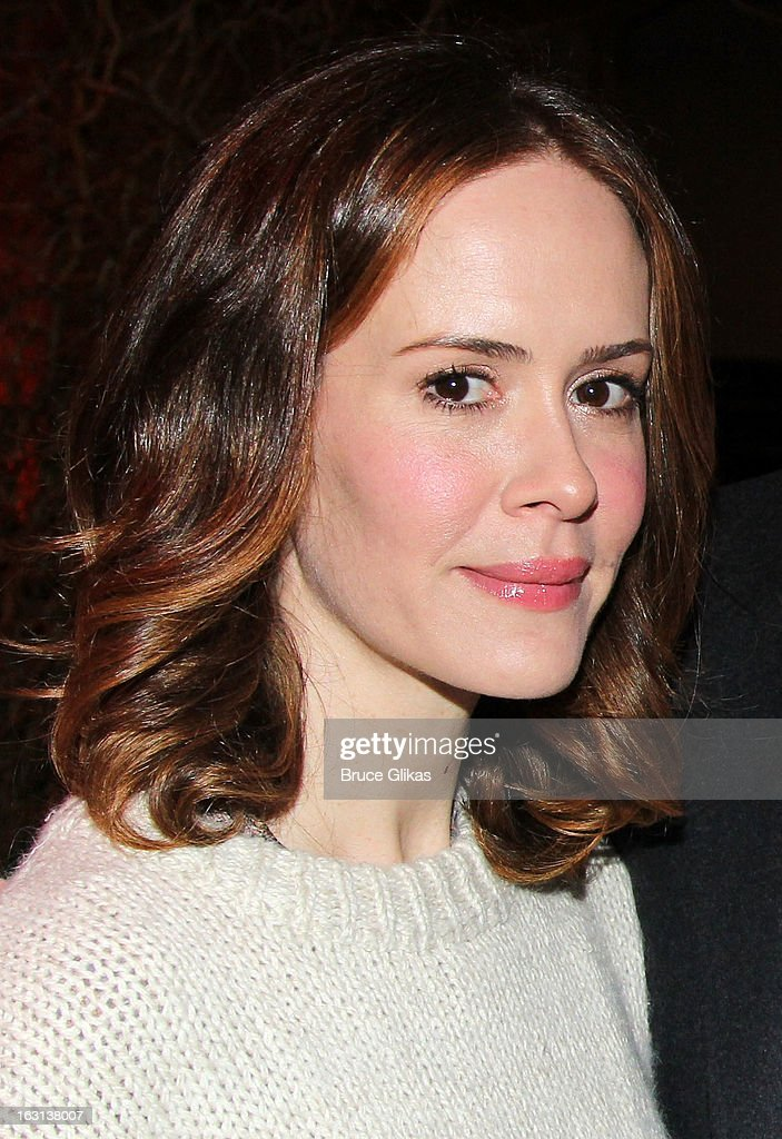 <a gi-track='captionPersonalityLinkClicked' href=/galleries/search?phrase=Sarah+Paulson&family=editorial&specificpeople=220657 ng-click='$event.stopPropagation()'>Sarah Paulson</a> attends MCC Theater Company's Miscast 2013 at Hammerstein Ballroom on March 4, 2013 in New York City.