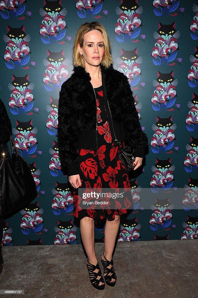 Sarah Paulson attends Miu Miu Women's Tales 7th Edition - 'Spark & Light' Screening - Arrivals at Diamond Horseshoe on February 11, 2014 in New York City.