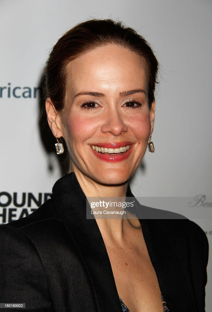 Sarah Paulson attends 'Talley's Folly' Opening Night at Laura Pels Theatre at the Harold & Miriam Steinberg Center for on March 5, 2013 in New York City.