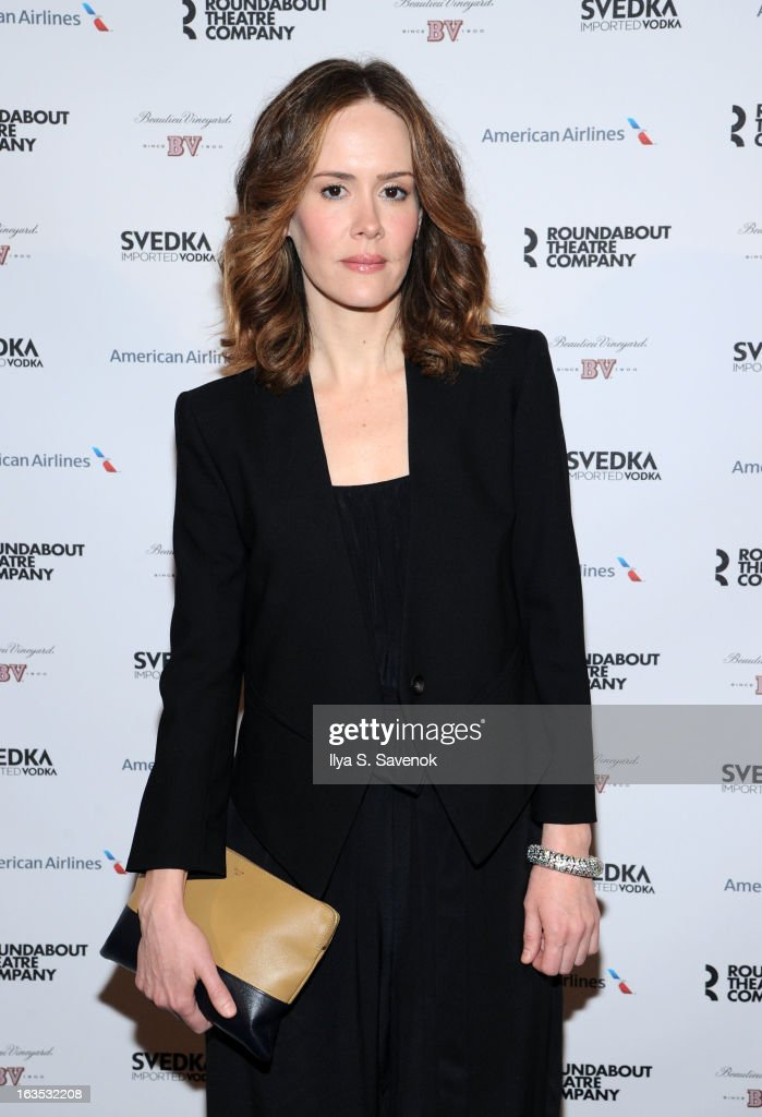 Sarah Paulson attends the 2013 Roundabout Theatre Company Spring Gala at Hammerstein Ballroom on March 11, 2013 in New York City.