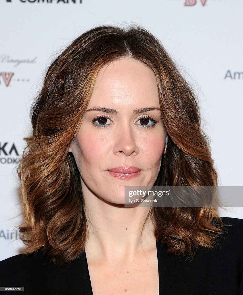 <a gi-track='captionPersonalityLinkClicked' href=/galleries/search?phrase=Sarah+Paulson&family=editorial&specificpeople=220657 ng-click='$event.stopPropagation()'>Sarah Paulson</a> attends the 2013 Roundabout Theatre Company Spring Gala at Hammerstein Ballroom on March 11, 2013 in New York City.