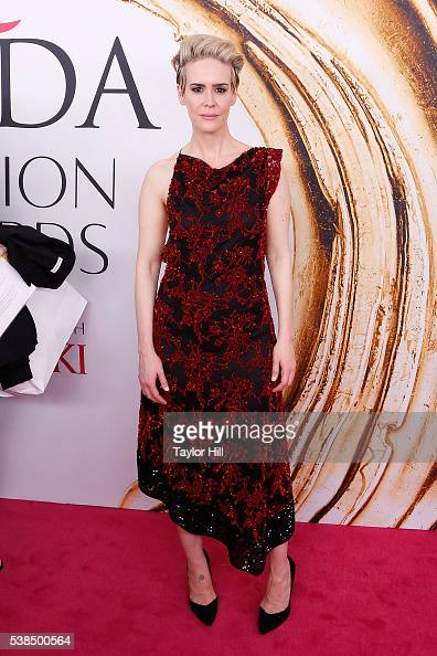 Sarah Paulson attends the 2016 CFDA Fashion Awards at the Hammerstein Ballroom on June 6 2016 in New York City