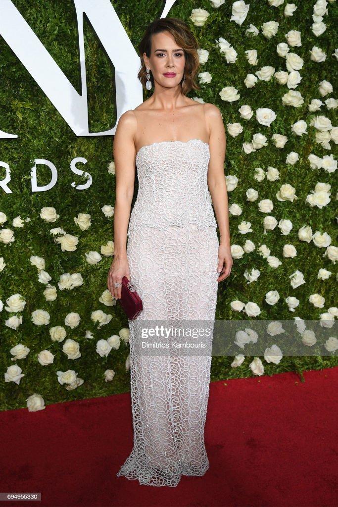 Sarah Paulson attends the 2017 Tony Awards at Radio City Music Hall on June 11, 2017 in New York City.