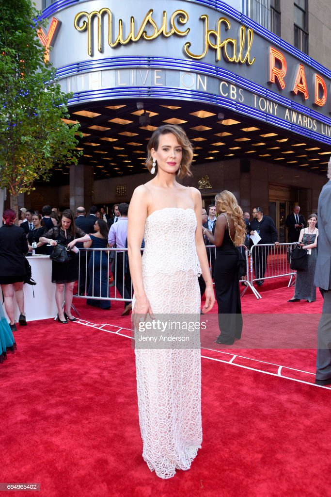 Sarah Paulson attends the 2017 Tony Awards at Radio City Music Hall on June 11, 2017 in New York City.