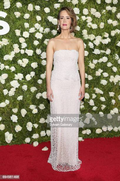 Sarah Paulson attends the 2017 Tony Awards at Radio City Music Hall on June 11 2017 in New York City