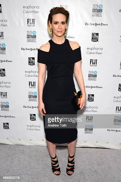 Sarah Paulson attends the 25th annual Gotham Independent Film Awards at Cipriani Wall Street on November 30 2015 in New York City