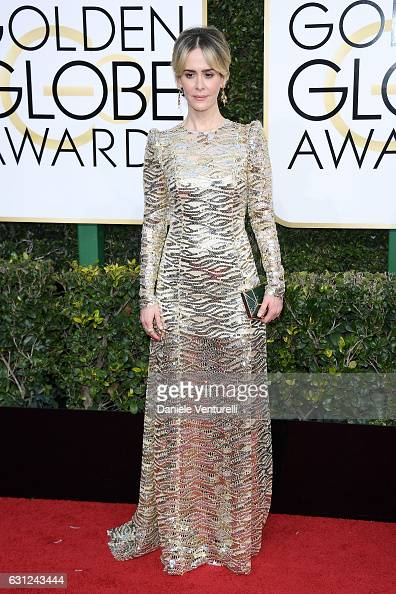Sarah Paulson attends the 74th Annual Golden Globe Awards at The Beverly Hilton Hotel on January 8 2017 in Beverly Hills California