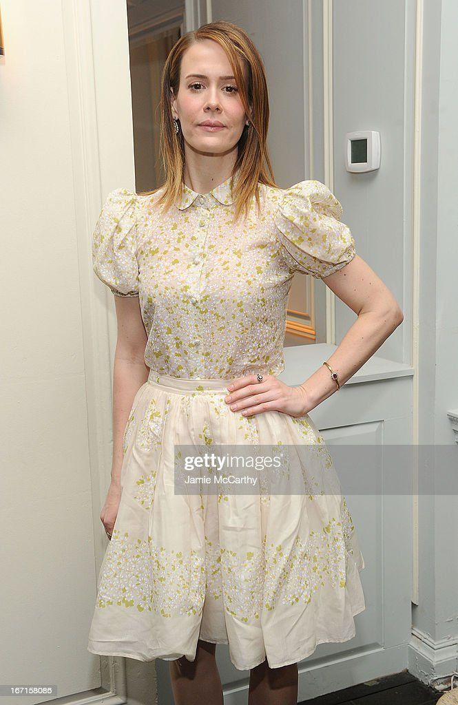 Sarah Paulson attends the after party for The Cinema Society with FIJI Water & Levi's screening of 'Mud' at Harlow on April 21, 2013 in New York City.