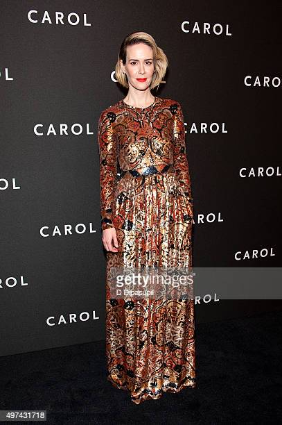 Sarah Paulson attends the 'Carol' New York premiere at the Museum of Modern Art on November 16 2015 in New York City