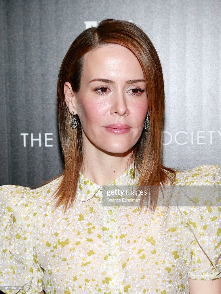 Sarah Paulson attends The Cinema Society with FIJI Water & Levi's screening of 'Mud' at The Museum of Modern Art on April 21, 2013 in New York City.