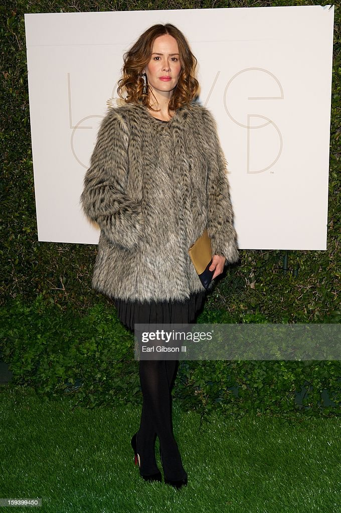 <a gi-track='captionPersonalityLinkClicked' href=/galleries/search?phrase=Sarah+Paulson&family=editorial&specificpeople=220657 ng-click='$event.stopPropagation()'>Sarah Paulson</a> attends the LoveGold party at Chateau Marmont on January 12, 2013 in Los Angeles, California.