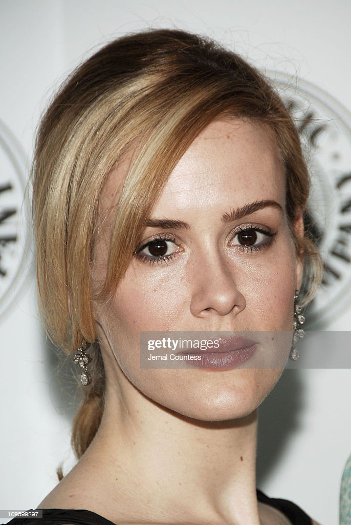 <a gi-track='captionPersonalityLinkClicked' href=/galleries/search?phrase=Sarah+Paulson&family=editorial&specificpeople=220657 ng-click='$event.stopPropagation()'>Sarah Paulson</a> during Atlantic Theater Company Honors Felicity Huffman - May 1, 2006 at The Rainbow Room in New York City, New York, United States.