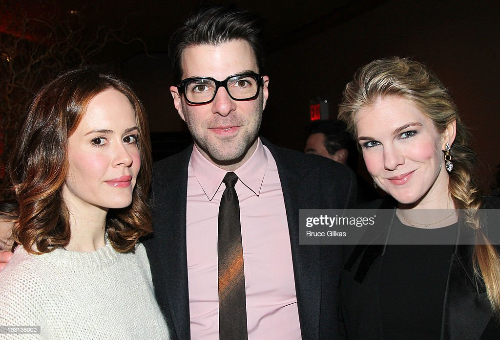 <a gi-track='captionPersonalityLinkClicked' href=/galleries/search?phrase=Sarah+Paulson&family=editorial&specificpeople=220657 ng-click='$event.stopPropagation()'>Sarah Paulson</a>, <a gi-track='captionPersonalityLinkClicked' href=/galleries/search?phrase=Zachary+Quinto&family=editorial&specificpeople=715956 ng-click='$event.stopPropagation()'>Zachary Quinto</a> and <a gi-track='captionPersonalityLinkClicked' href=/galleries/search?phrase=Lily+Rabe&family=editorial&specificpeople=233506 ng-click='$event.stopPropagation()'>Lily Rabe</a> attend MCC Theater Company's Miscast 2013 at Hammerstein Ballroom on March 4, 2013 in New York City.