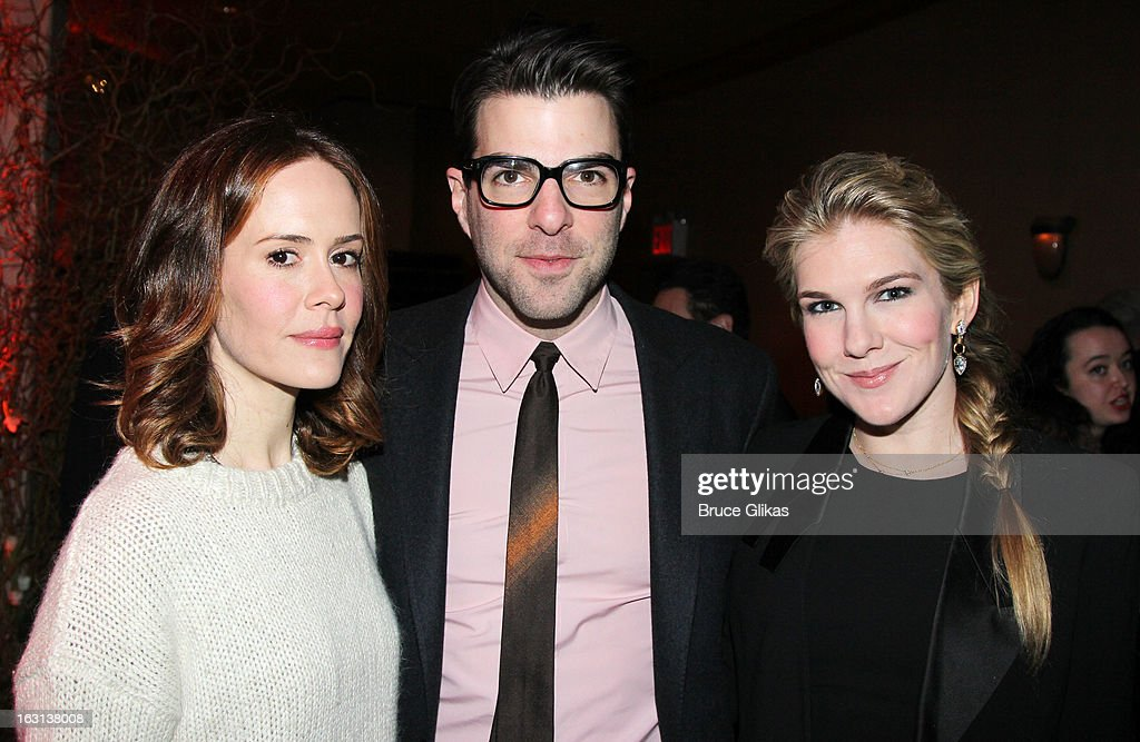 Sarah Paulson, Zachary Quinto and Lily Rabe attend MCC Theater Company's Miscast 2013 at Hammerstein Ballroom on March 4, 2013 in New York City.