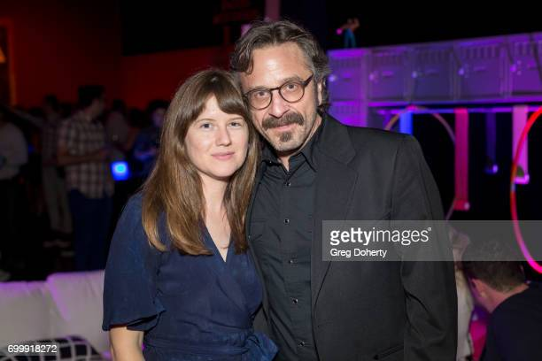 Sarah Payne and Marc Maron attend the Premiere Of Netflix's 'GLOW' After Party at Florentine Gardens on June 21 2017 in Los Angeles California