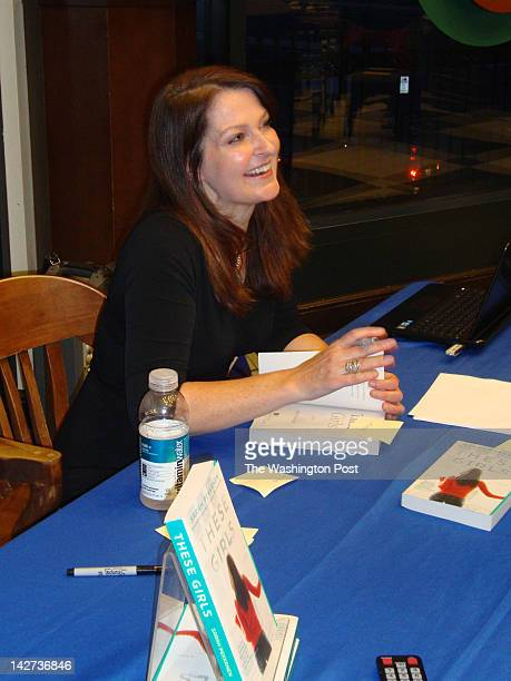 Sarah Pekkanen signs copies of her new novel 'These Girls' at Barnes amp Noble in Bethesda Maryland
