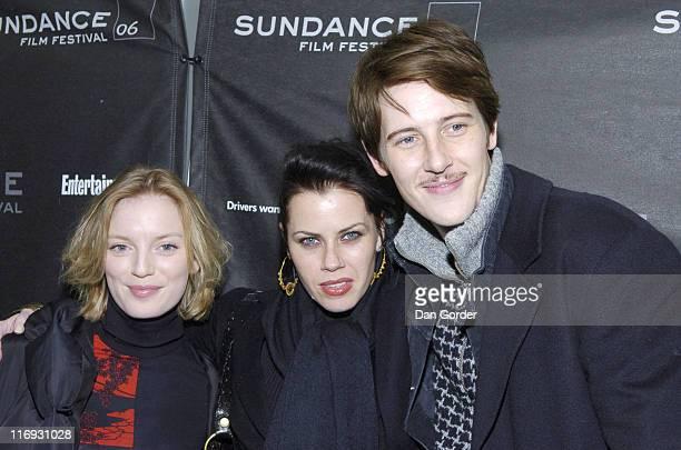 Sarah Polley Fairuza Balk and Gabriel Mann during 2006 Sundance Film Festival 'Don't Come Knockin' Premiere at Eccles in Park City Utah