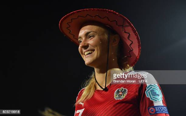 Sarah Puntigam of Austria after the UEFA Women's EURO 2017 Group C match between Iceland and Austria at Sparta Stadion on July 26 2017 in Rotterdam...