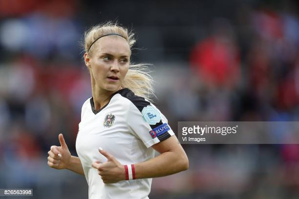 Sarah Puntigam of Austria women during the UEFA WEURO 2017 semifinal match between Denmark and Austria at the Rat Verlegh stadium on August 03 2017...