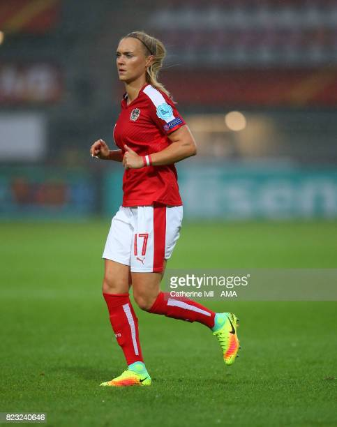 Sarah Puntigam of Austria Women during the UEFA Women's Euro 2017 match between Iceland and Austria at Sparta Stadion on July 26 2017 in Rotterdam...