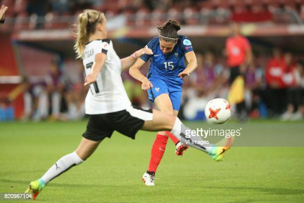 Sarah Puntigam of Austria women Elise Bussaglia of France women during the UEFA WEURO 2017 Group C group stage match between France and Austria at...