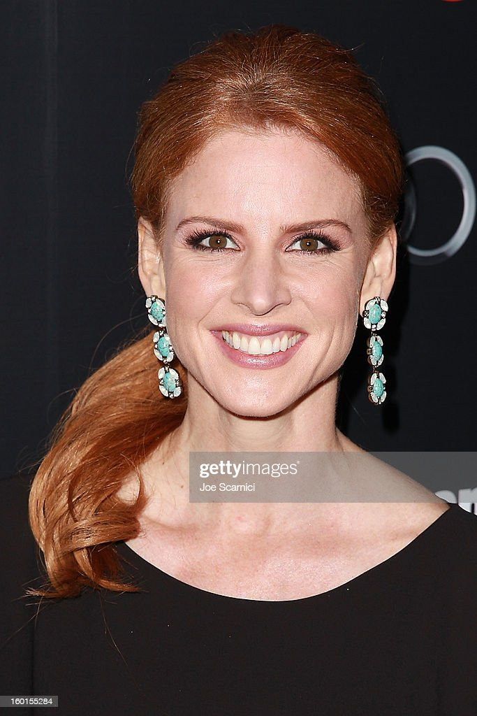Sarah Rafferty arrives at Entertainment Weekly Screen Actors Guild Awards Pre-Party at Chateau Marmont on January 26, 2013 in Los Angeles, California.