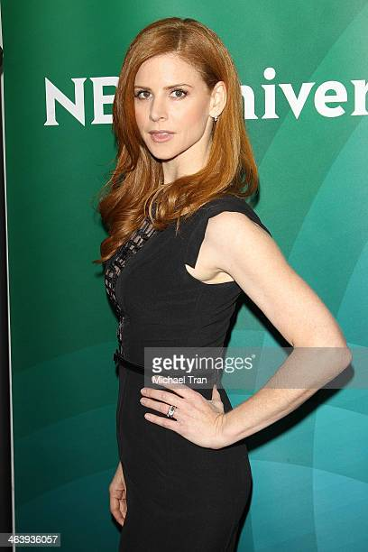 Sarah Rafferty arrives at the NBC/Universal 2014 TCA Winter press tour held at The Langham Huntington Hotel and Spa on January 19 2014 in Pasadena...
