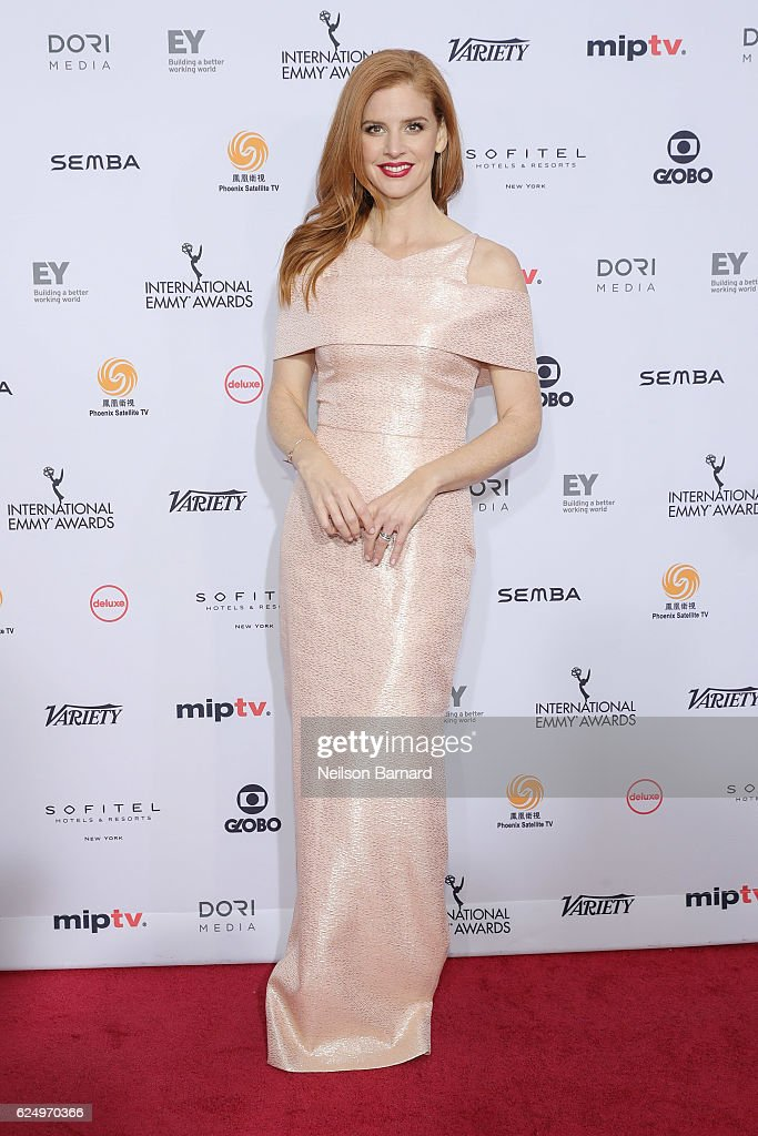 Sarah Rafferty attends the 44th International Emmy Awards at New York Hilton on November 21, 2016 in New York City.