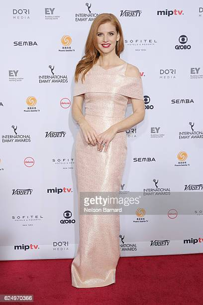 Sarah Rafferty attends the 44th International Emmy Awards at New York Hilton on November 21 2016 in New York City